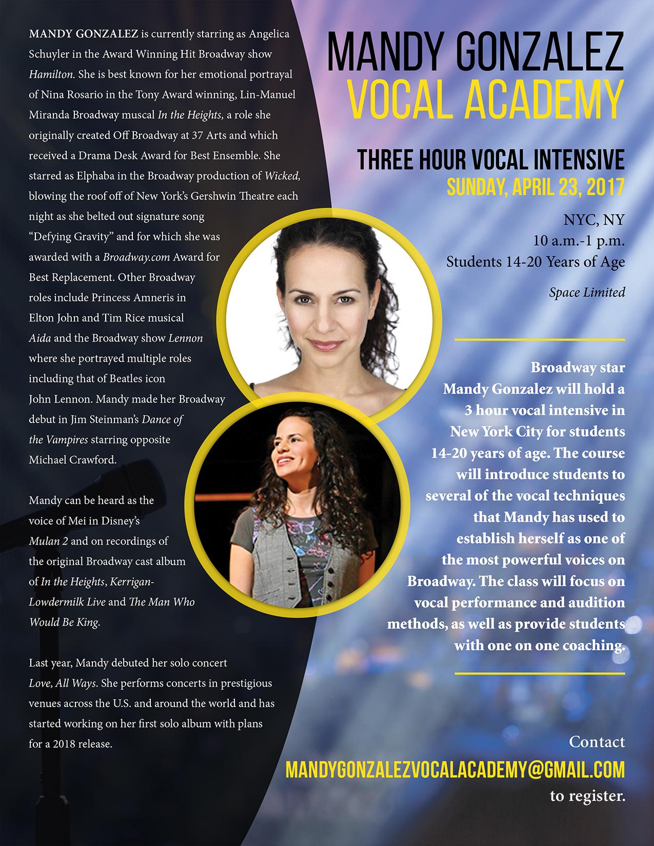 Mandy Gonzalez Vocal Academy